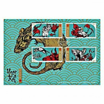 Isle of Man 2020 Year of the Rat First Day Cover