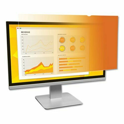 """3M Gold LCD Privacy Filter for 19"""" Widescreen Monitor (MMMGF190W1B)"""