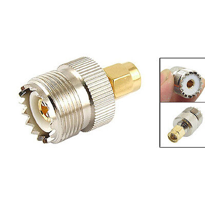 UHF SO-239 SO239 Female to SMA Male Plug Connector Coaxial Adapter LW SZUS
