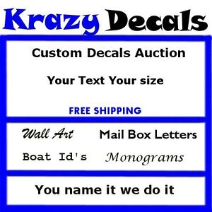 Custom Vinyl Decal Lettering Letters Stickers Business