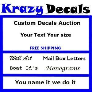 Custom Made Decals EBay - Custom vinyl decals for business