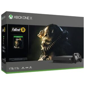 NEW XBOX ONE X FALLOUT 76 CONSOLE BUNDLE + SKYRIM + CONTROLLER