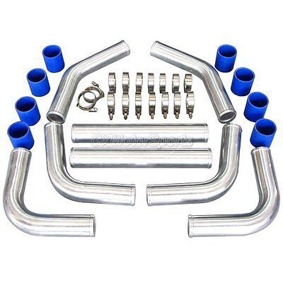 3 5   Universal Aluminum Piping Kit  Mandrel Bent  Polished  3 0Mm Thick 24 Leng