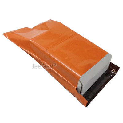 200 Orange Postal Bags Mailing Parcel Plastic Strong Poly 10