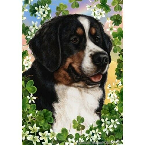 Clover House Flag - Bernese Mountain Dog 31051