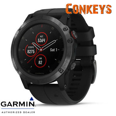 Garmin Fenix 5x Plus GPS Watch W/ Wrist Heart Rate Technology 010-01989-00