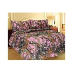 pink camo comforter bedding only king size camouflage like realtree mossy oak ebay. Black Bedroom Furniture Sets. Home Design Ideas