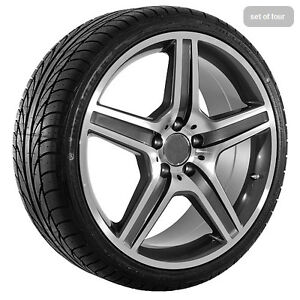 19 034 inch mercedes benz amg wheels rims and tires ebay for Rims and tires for mercedes benz