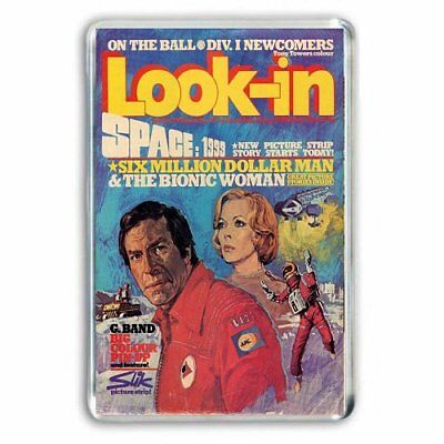 RETRO - LOOK IN COMIC COVER - SPACE 1999  JUMBO FRIDGE /LOCKER MAGNET
