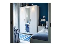 **FREE DELIVERY AND ASSEMBLING** White Ikea 3 door wardrobe with mirror