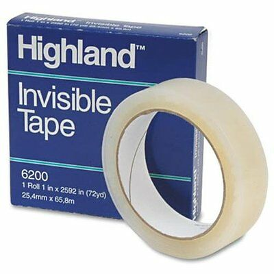 Highland Invisible Tape 1 X 2592 3 Core - 1 Width X 72 Yd 620025921