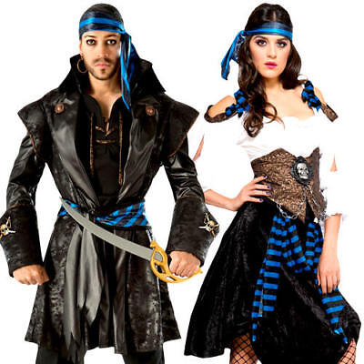 Rum Runner Pirate Adults Fancy Dress High Seas Buccaneer Voyager Costume Outfits](Pirate Outfits For Men)