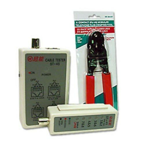 RJ45 Patch Cable Tester&Crimper/Crimping/Crimp Tool, Ethernet Network Cat6 Cat5e