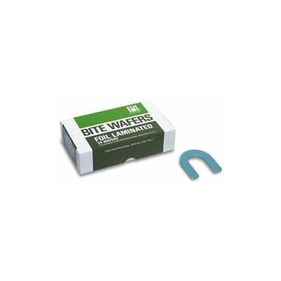 Coltene Whaledent H00825 Hygenic U-shaped Bite Wafers Wax Light Blue Foil 24bx