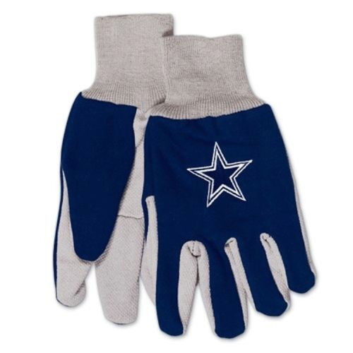 Dallas-Cowboys-Blue-Gray-with-Team-Logo-Licensed-NFL-Sport-Utility-Gloves-New
