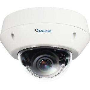 GeoVision GV-EVD5100 5 Megapixel Network Camera - Color, Monochrome - 98.43 ft Night Vision - Motion JPEG, H.264 - 2592