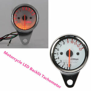 Motorcycle LED Backlit Tachometer For Honda Suzuki Yamaha Kawasaki Harley