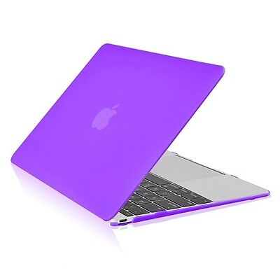 """PURPLE Rubberized Cruel Crate for New Macbook 12"""" with Retina Display Perfect A1534"""