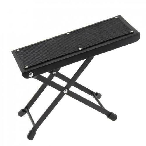 Portable Metal Folding Guitar Footstool Rest Anti-Slip Stand Height Adjustable