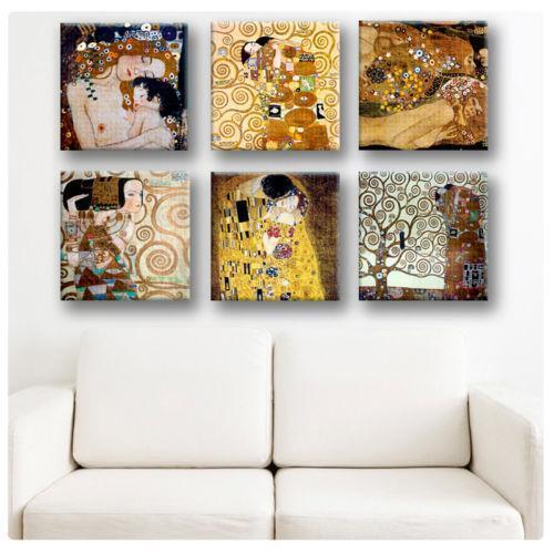gustav klimt canvas home decor ebay. Black Bedroom Furniture Sets. Home Design Ideas