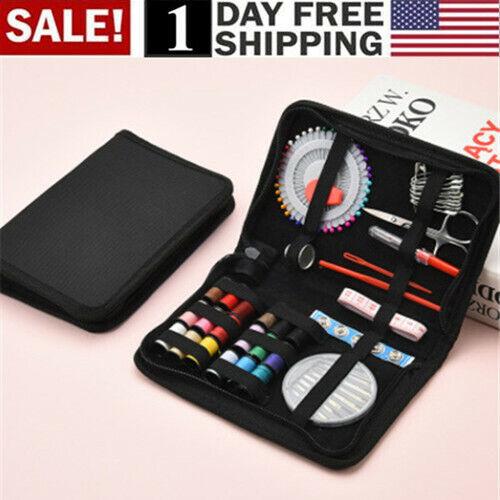 40Pcs Home Travel Thread Threader Needle Tape Measure Scissor Sewing Kit
