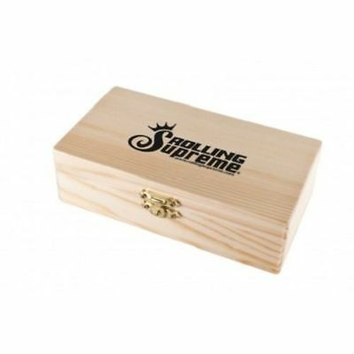 MEDIUM STORAGE BOX W TRAY WOOD STASH NEW ROLLING SUPREME STORE PAPERS AND TIPS ()