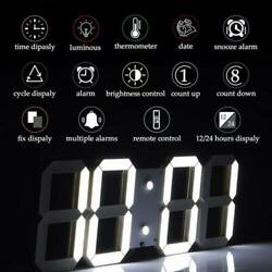 Remote Control Large LED Digital Wall Clock w/ Countdown Timer Temperature Date#