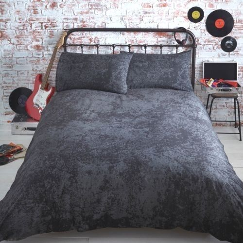 Black / Grey Marble Eagle Quilt Cover Reversible USA Boys Me