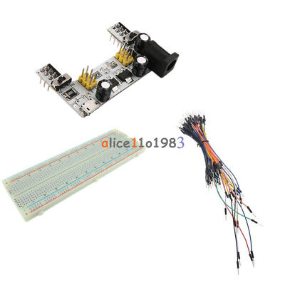 830 Solderless Pcb Breadboard Mb102 Power Supply Module 65pcs Jump Cable Wires
