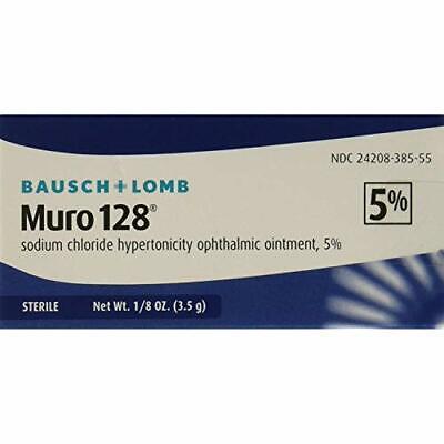 Bausch + Lomb Muro 128 Sodium Chloride Hypertonicity Opthalmic Ointment 5% 12/21