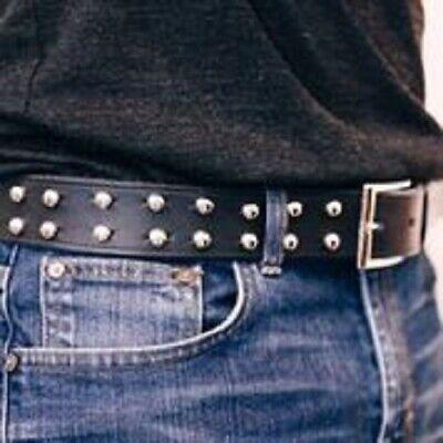 Unisex Leather Belt, Studded Leather belt, Boho Belt, Punk Rocker, Biker (Leather Biker Belt)