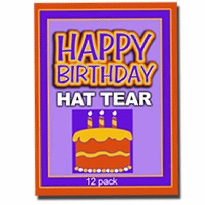 HAPPY BIRTHDAY HAT PAPER TEAR Magic Trick Kid Shows Restore 12 Set Comedy Tissue ()