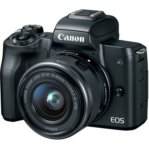 Canon EOS M50 Mirrorless Camera Kit w/EF-M15-45mm and 4K Vid