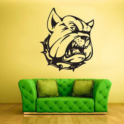 Wall Vinyl Sticker Bedroom Decal Bulldog Dog Animal (Z1497)