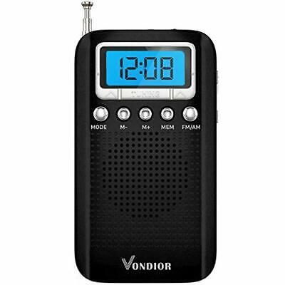 Digital AM FM Portable Pocket Radio with Alarm Clock- Best Reception New