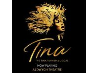 2x Tina the musical theatre tickets