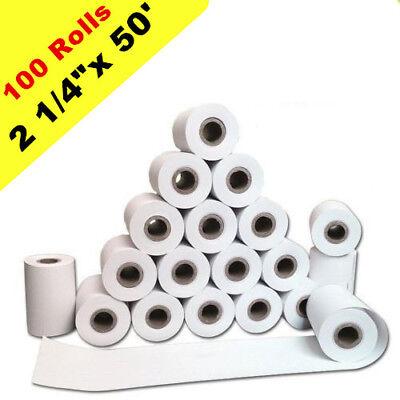 100 Rolls 2 14x 50 Thermal Paper Verifone Vx520 Ingenico Ict220 Ict250 Fd400
