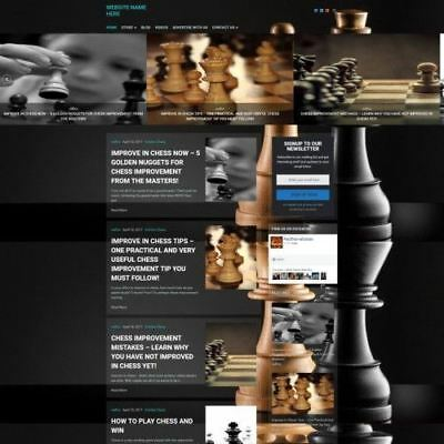 Chess Store - Professionally Designed Affiliate Website For Sale Domain