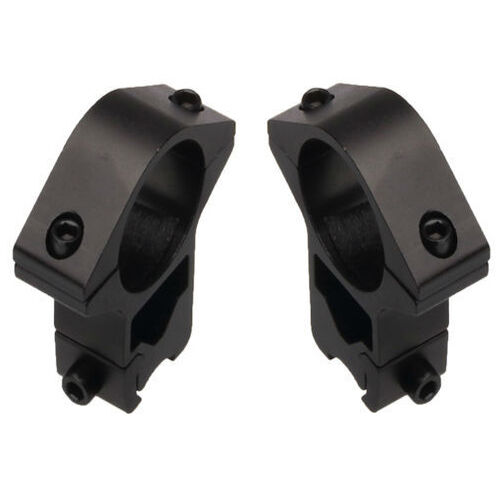 """Tall 1"""" Black Scope Rings Fits 3/8 Dovetails on Ruger American Rimfire Rifles"""