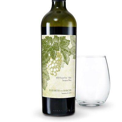 24 Wine Romance Personalized Wedding Wine Bottle - Wedding Wine Bottle Labels