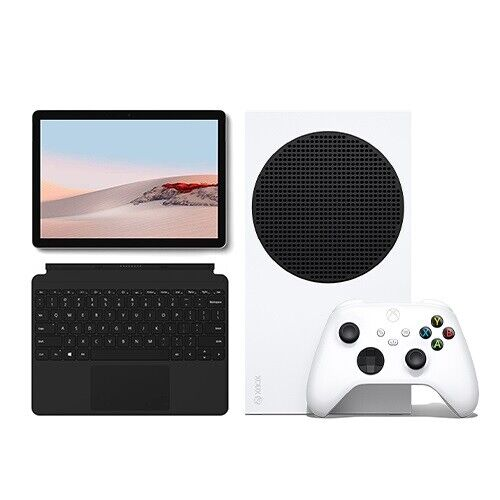 Xbox Series S + Microsoft Surface Go 2 Value Bundle with Surface Go Type Cover