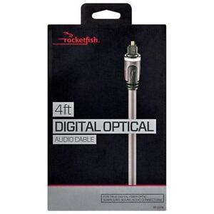 Rocketfish RF-G1218-C 1.2m (4 ft.) Digital Optical Audio Cable (Open Box)