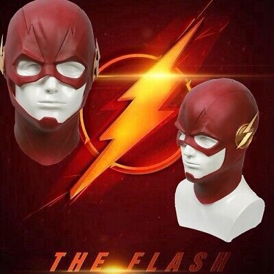 Xcoser The Flash Cosplay Mask Red Latex Full Head Helmet Costume Gifts
