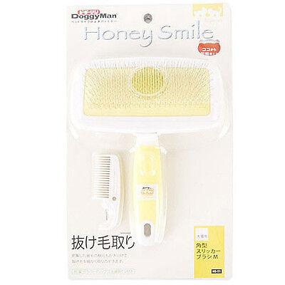 PET DOG CAT Bath Shower Massage Brush Grooming Comb Soft Slicker Brush Size_M