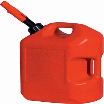 5 Gallon Gasoline Red Jerry Can Gas Fuel Plastic Tank Army Container No Spill