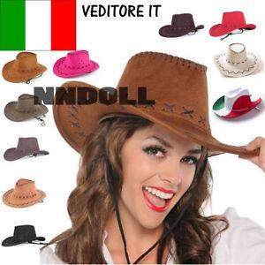 Cappello-hat-cappellino-COWBOY-COWGIRL-scamosciato-carnevale-festa-party-2017