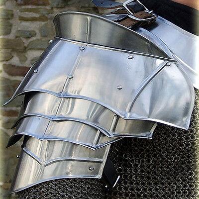 Steel Warrior Pauldron Medieval Renaissance Re Enactment 20G Shoulder Armor Set