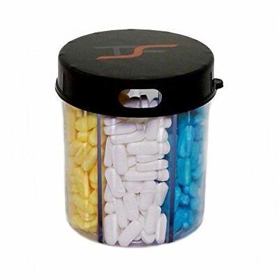 TSF Travel Pill Vitamin Medication Holder Dispenser Organizer Storage