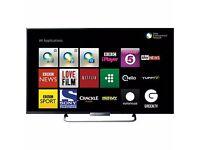 """Ultraslim Sony 42"""" Smart Full HD 1080p TV Built-in Wifi + FreeView & Freesat + USB + Apps"""