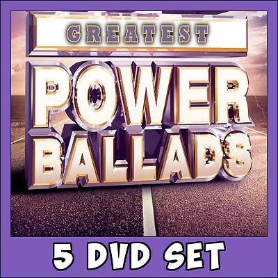 Best of Power Ballads Music Videos * 5 DVD Set * 115 Classics ! Pop Rock